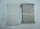 Silver thread and polyester kitchen sponge scrubber