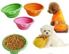 Silicone Collapsible portable pets travel bowl