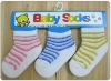 Cotton stripe baby sock in many colors