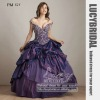 Beautiful Off-shoulder Appliques Taffeta Prom Dress PM524