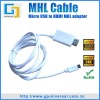MHL to HDMI cable for samsung galaxy s2 MHL cable hdmi hd tv htc