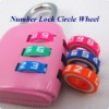 Colorful plastic ABS moving circle wheel of number lock