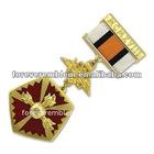 Shiny gold medal w/ribbon drape