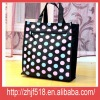 Fashion black dot design non woven pp bag