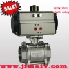 3pc spring return pneumatic actuator stainless steel ball valve