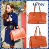 2012Hot sell top fashionable genuine leather bag