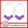 Fashoin colorful crystsal earring hoop