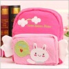 Soft plush schoolbag, plush animal backpack