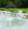 Aluminum six chair with table of set