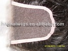 "HOT SALE - 12"" - 3.5*4"" - NATURAL STRAIGHT - VIRGIN COLOR - LACE CLOSURES - ALL HAND-TIED"