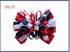Mahogany 4'' firework hair bows for kids