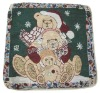 jacquard christmas design cushion