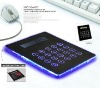 Multi-function 3 Port USB Hub Mouse Pad with LED Indicator and Calculator