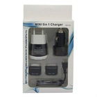 5 in1 AC Wall Charger Car Charger Micro Data USB Cable for The New iPad 3 iPhone 4 4S P7500