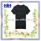 2012 New design men black tshirt
