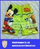 Cartoon Mickey Mouse sublimation printing beachwear for kids