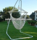 Rope hammock chair with steel stand 20DW01