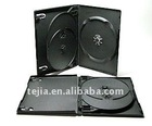 PP 14mm 3-disc black DVD case(with tray)