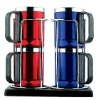 8oz stainless steel mug set