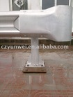 Galvanized steel guardrail head end