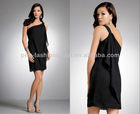 Chiffon One Shoulder LBD Little Black Dress Costumes