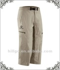 Men's casual miosture wicking 3/4 dry fit pants
