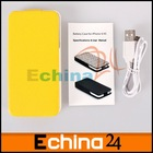 Yellow Leather Battery Case Power Pack 1450mAh for iPhone 4 4S