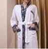 100%cotton embroidered bath skirt or bathrobe
