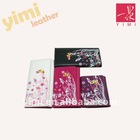 2011 fashion flower print PU wallet