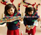 latest style top quality cherry intarsia sweater knitted vest girls vest