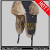 FANSHION WINTER HARE RABBIT FUR TRAPPER HAT