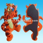 2012 Promotional Lovely Tiger shape custom metal fridge magnet