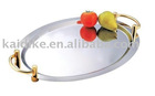 stainless steel oval mirror plate
