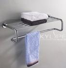 bathroom brass towel shelf