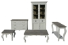 French style furniture cabinet and table
