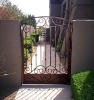 ornamental elegant wrought small iron gate