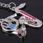 metal keychain mold/metal key chain angel holder
