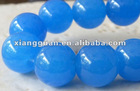 XG-L0365 Blue Jade Gemstone Round Beads