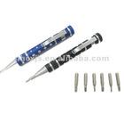 mini aluminum pen tool kits with 8pcs screwdriver bits