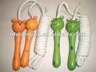 fashion wooden handle jump rope