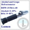 Hot Sale! Portable Hand-held Alcohol and Grape Refractometer RHW-25 /Brix ATC