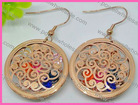 Cultured Round Jewelry Cheap Filigree Embossed Button Earrings