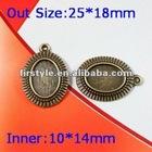 antique Pendant Necklace base Setting/bronze pendant cabochon,base cameo settings