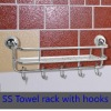 Stainless steel towel hooks/ towel rack with hook/wall-mounted towel hook