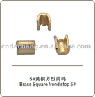 Brass Square top Stopper NO.5 zipper accessories