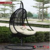 TF-9708 rattan swing chair/patio rattan hanging swing chair