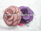 Best selling pu cute small flower coin bag and wallet