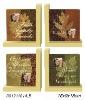 Wooden Bookends w/photo frame 2 Asstd Designs