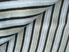 cotton grey striped velvet upholstery fabric