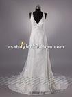 Graceful Sheath Column V-neck Lace Bridal dresses 2013